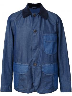 Пиджак на пуговицах Kent & Curwen. Цвет: синий