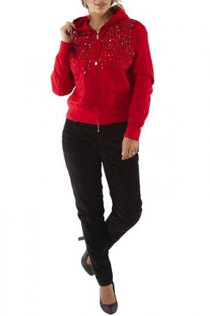 Куртка LAFEI-NIER. Цвет: красный