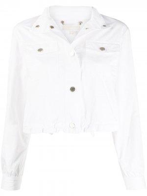 Укороченная джинсовая куртка Michael Kors. Цвет: белый