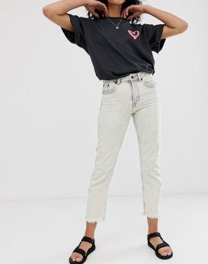 Узкие джинсы из органического хлопка с необработанной кромкой Revive-Белый Cheap Monday