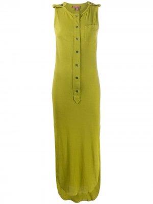 Платье миди 1990-х годов на пуговицах Romeo Gigli Pre-Owned. Цвет: зеленый