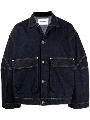 Джинсовая куртка оверсайз HENRIK VIBSKOV. Цвет: синий