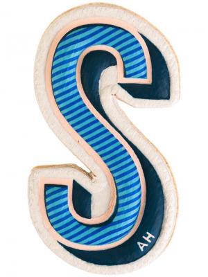 Стикер S Anya Hindmarch. Цвет: синий