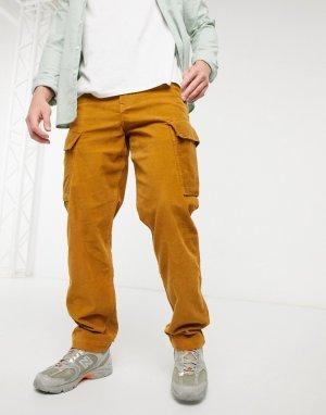 Зауженные к низу брюки-карго из плотного вельвета Levis XX в золотисто-бежевом цвете-Коричневый цвет Levi's