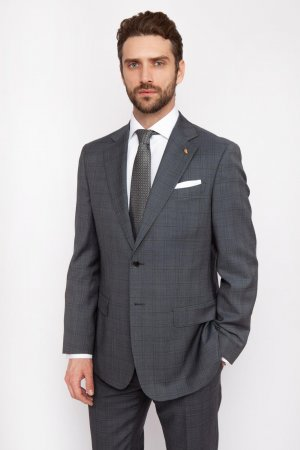 Костюмный пиджак прямой из шерсти KANZLER