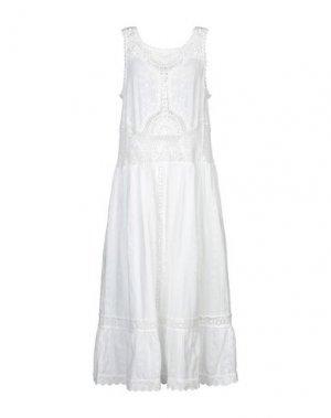 Платье длиной 3/4 DEBY DEBO. Цвет: белый