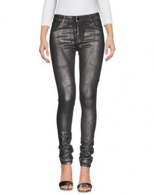 Джинсовые брюки 75 FAUBOURG. Цвет: свинцово-серый