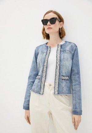 Куртка джинсовая Betty Barclay. Цвет: голубой