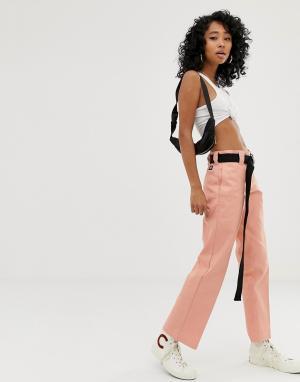 Рабочие брюки чиносы с прямого кроя -Розовый Dickies