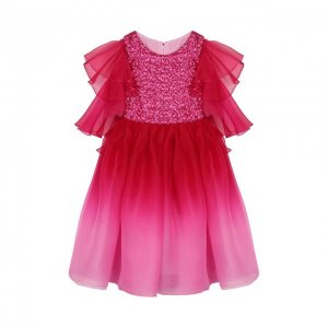 Платье Yudashkin Kids. Цвет: розовый