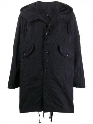 Плащ оверсайз с капюшоном Engineered Garments. Цвет: синий