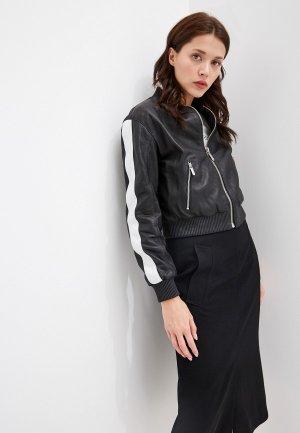 Куртка кожаная By Byblos. Цвет: черный