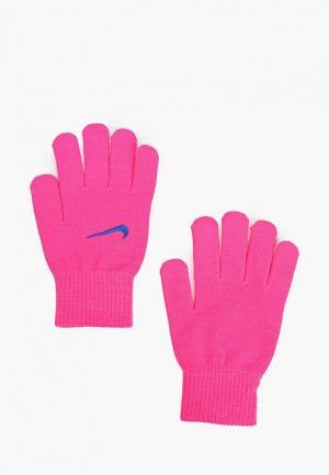 Перчатки Nike KIDS KNITTED GLOVES. Цвет: розовый
