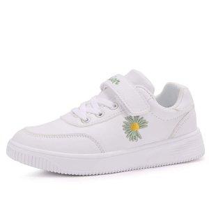 Обувь для коньков мальчиков с вышивкой SHEIN. Цвет: белый