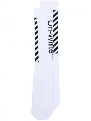 Diag socks Off-White. Цвет: белый