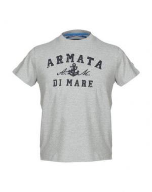 Футболка ARMATA DI MARE. Цвет: серый