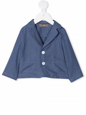Однобортный пиджак Little Bear. Цвет: синий