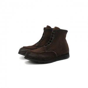 Замшевые ботинки Alexander Hotto. Цвет: коричневый