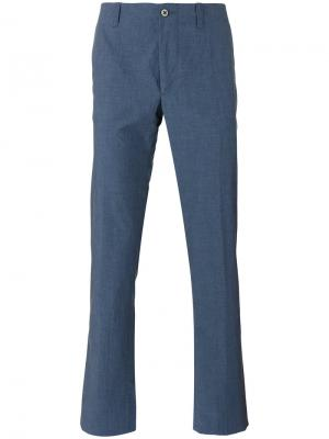 Классические брюки чинос Corneliani. Цвет: синий