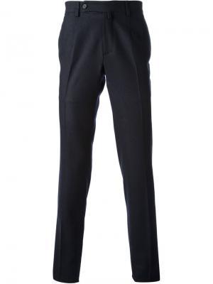 Классические брюки узкого кроя Ermanno Scervino. Цвет: синий