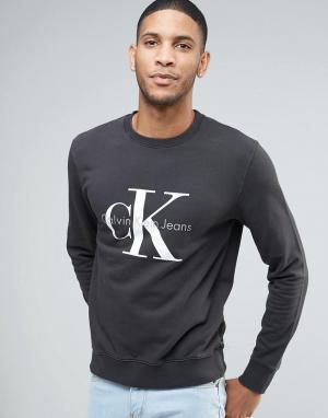 Свитшот в стиле 90‑х Calvin Klein Jeans. Цвет: черный