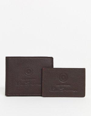Кожаный бумажник и кредитница -Коричневый Ben Sherman