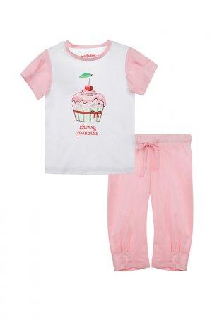 Пижама PlayToday. Цвет: белый, светло-розовый