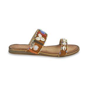 Туфли без задника, из кожи, Galet LES TROPEZIENNES PAR M BELARBI. Цвет: темно-коричневый