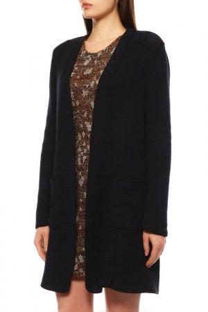 Пальто вязаное Elie Tahari. Цвет: черный k/blue