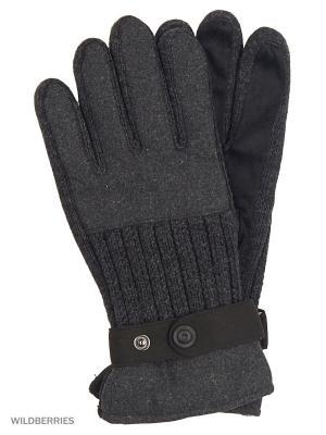 Перчатки TOM TAILOR. Цвет: черный, серый