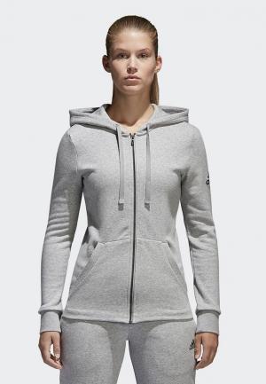 Толстовка adidas ESS SOLID FZ HD. Цвет: серый