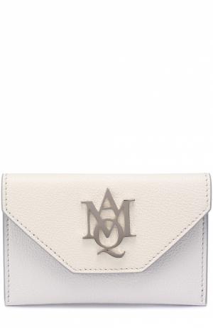 Футляр для кредитных карт Alexander McQueen. Цвет: кремовый