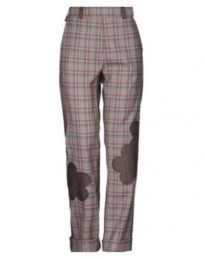 Повседневные брюки ATINSIGHT by ANDREA TURCHI. Цвет: серый