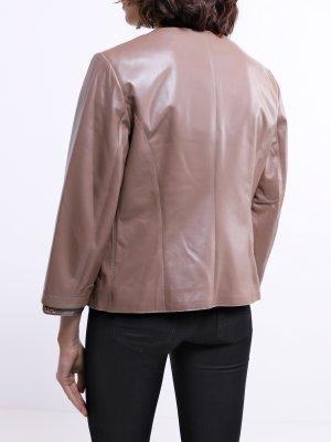 Кожаная куртка ORSA Couture. Цвет: bezhevyy