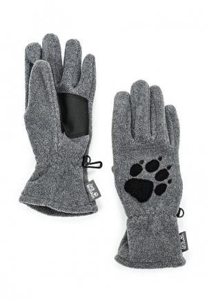 Перчатки Jack Wolfskin PAW GLOVES. Цвет: серый