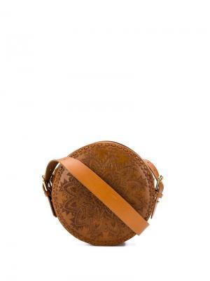 Круглая сумка Kalai Antik Batik. Цвет: коричневый