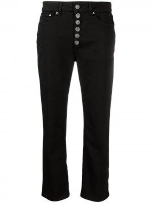Укороченные джинсы прямого кроя Dondup. Цвет: черный