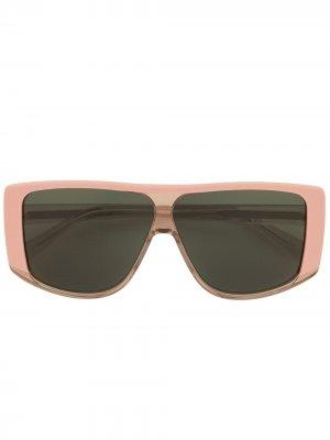Солнцезащитные очки с затемненными линзами Karen Walker. Цвет: розовый