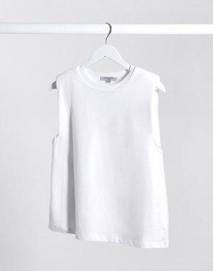 Белая майка с подплечниками -Белый AllSaints