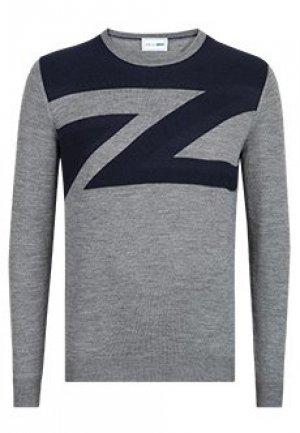 Пуловер ZILLI. Цвет: серый