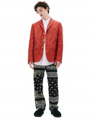 Красный льняной пиджак Junya Watanabe