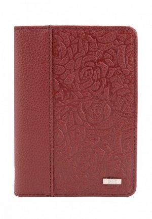 Обложка для паспорта Esse PAGE. Цвет: бордовый