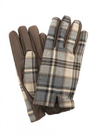 Кожаные перчатки с клетчатыми вставками Etro. Цвет: multicolor