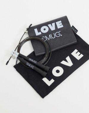 Набор из скакалки, ленты-эспандера и чехла SMUG-Черный Smug