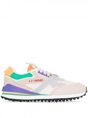 Кроссовки Moment на шнуровке Li-Ning. Цвет: нейтральные цвета