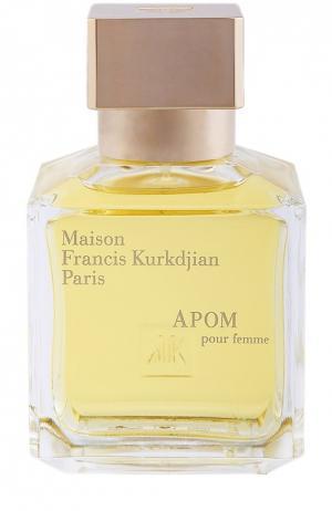 Парфюмерная вода Apom Maison Francis Kurkdjian. Цвет: бесцветный