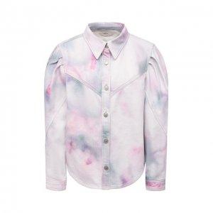 Джинсовая куртка Isabel Marant Etoile. Цвет: фиолетовый