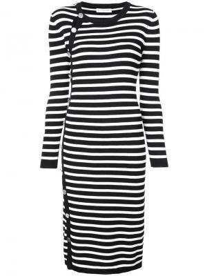 Платье в полоску Altuzarra. Цвет: черный