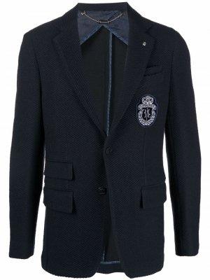 Пиджак с нашивкой Billionaire. Цвет: синий