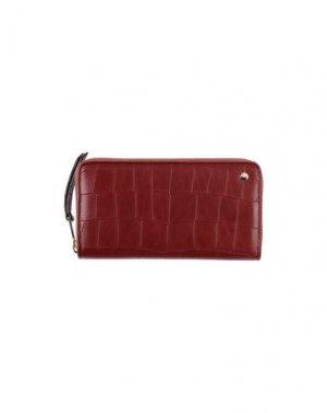 Бумажник ABRO⁺. Цвет: красно-коричневый